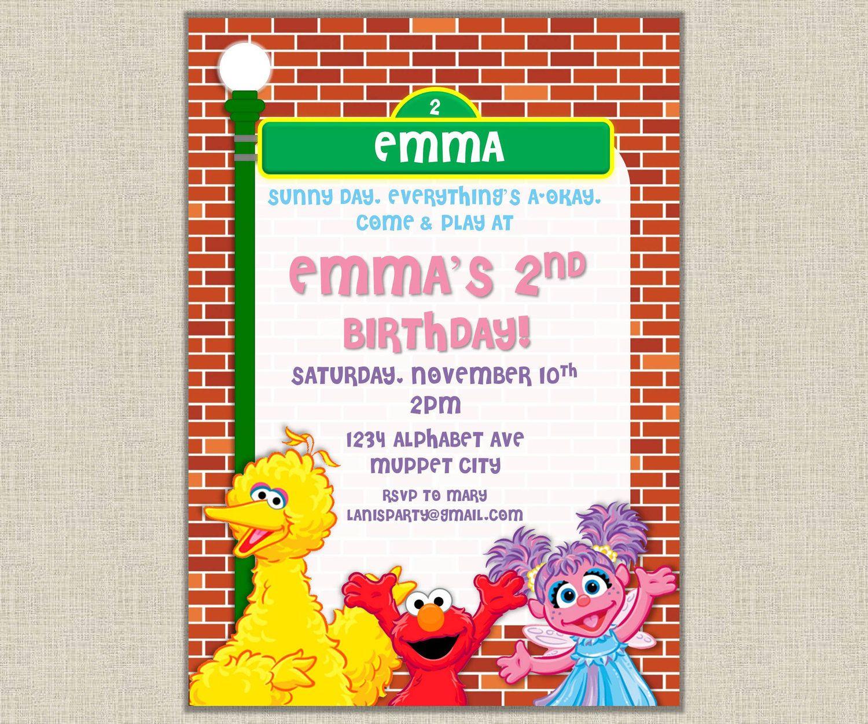 elmo invitations - Google Search | Elmo | Pinterest | Elmo and ...