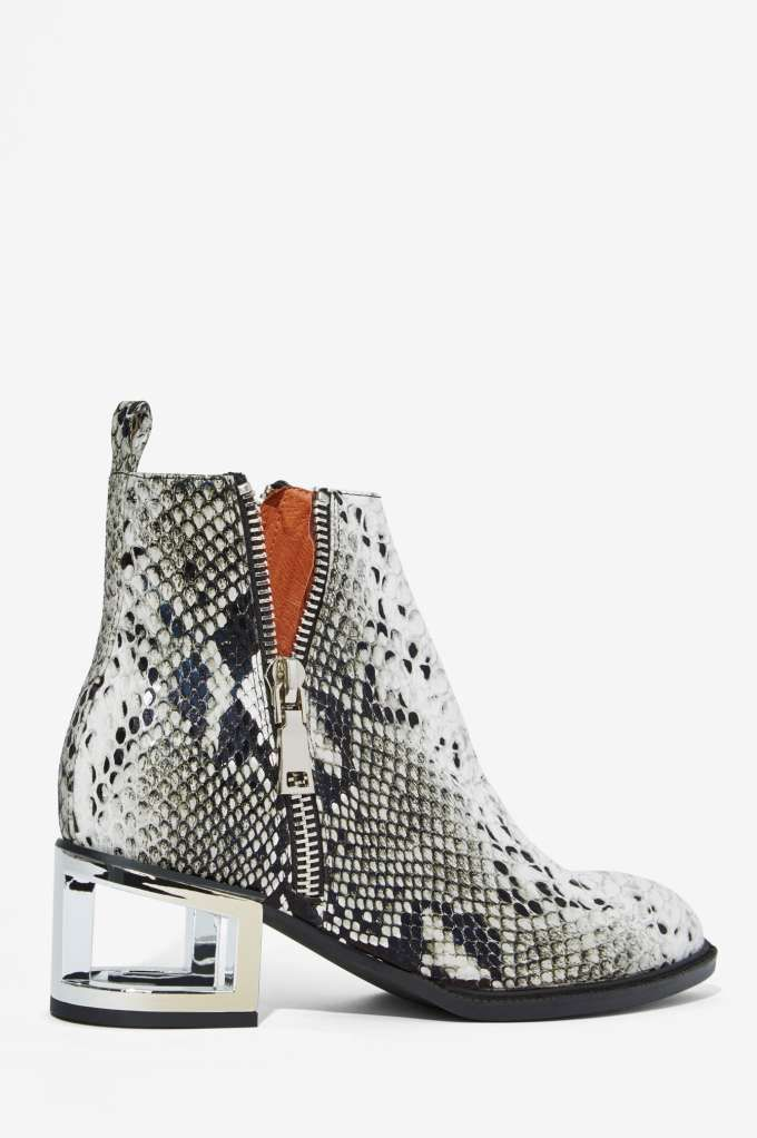 6a6e16419ed Jeffrey Campbell Boone Leather Boot - Snake - Boots + Booties ...