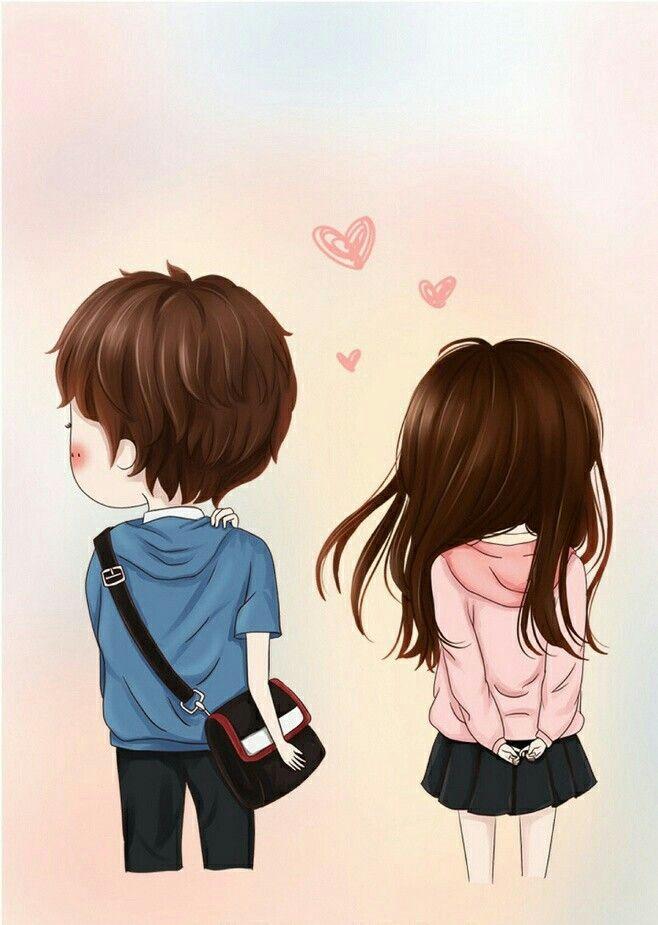 Girl Back Side Wallpaper Pin By Galuh Fatmatinnisha On Animasi Cute Couple