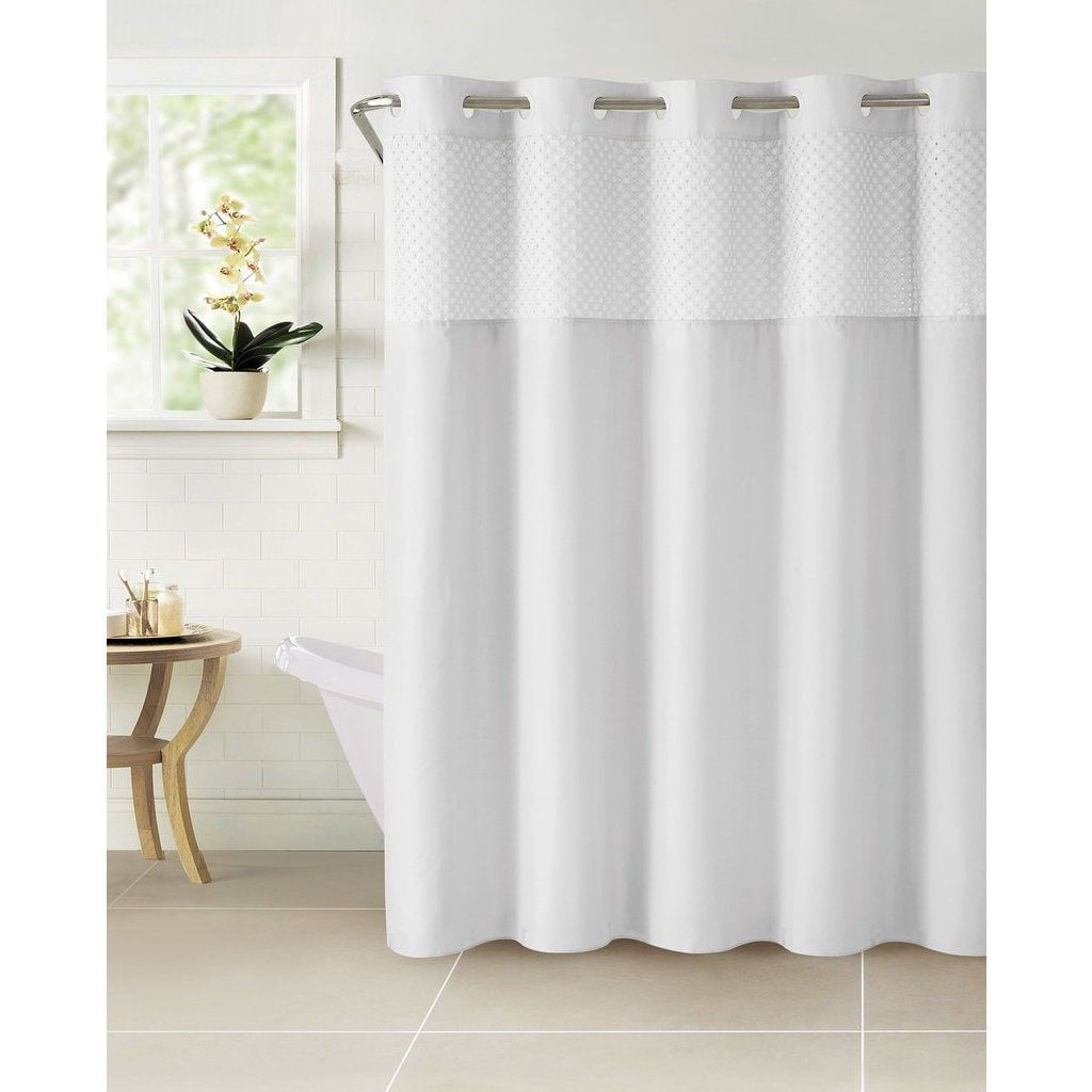 Hookless Bahamas Shower Curtain With Snap On Liner Hotel Shower