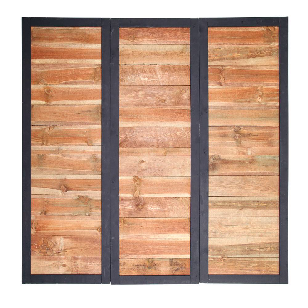Outdoor Essentials 2 Ft X 6 Ft Pressure Treated Dura Color Sonoma Wood Fence Panel With Black Frame 311444 The Home Depot Wood Fence Design Wood Fence Fence Panels