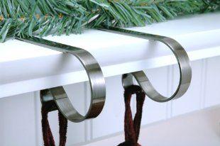 sterling pear mantle clip stocking holders set of 4. Black Bedroom Furniture Sets. Home Design Ideas