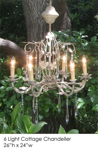 White Washed Candle Chandelier | Use With Battery Operated Candles Only