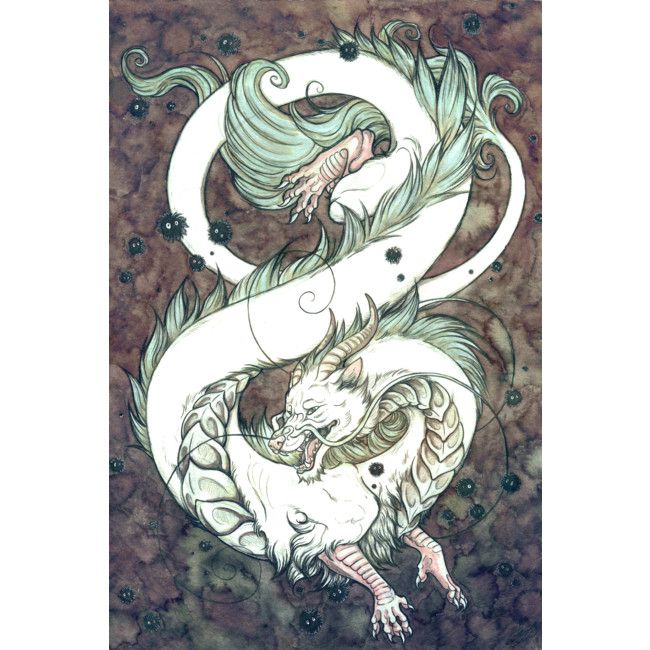 Ko Haku River Spirit Art Print By Collettejellis Design By Humans Spirited Art Art Ghibli Art