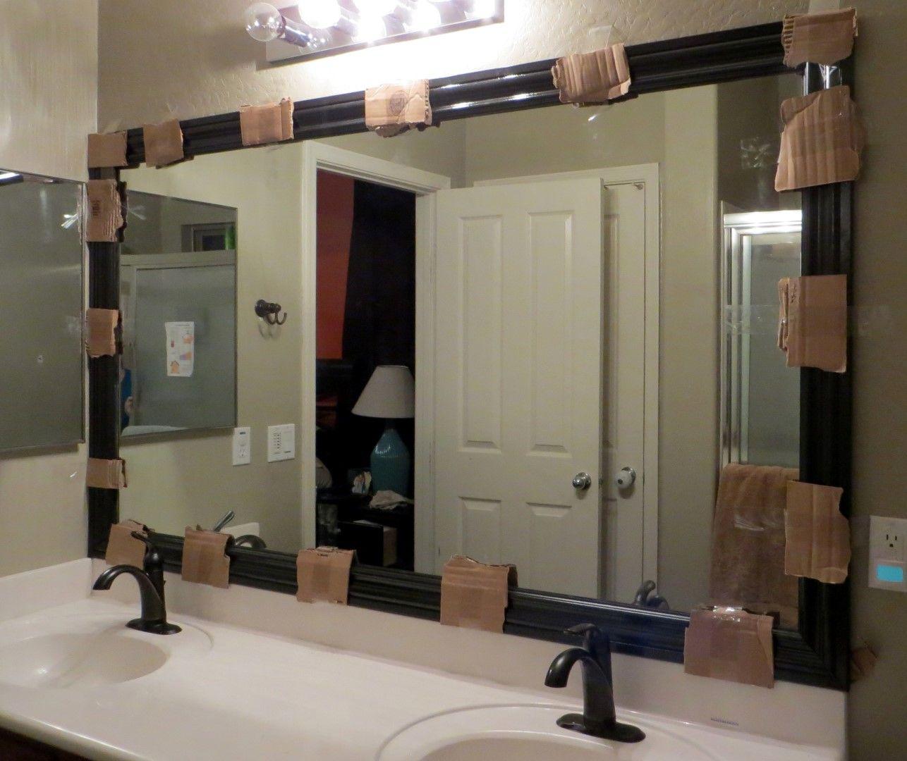 How to frame a mirror u diy bathroom mirror frames tutorial