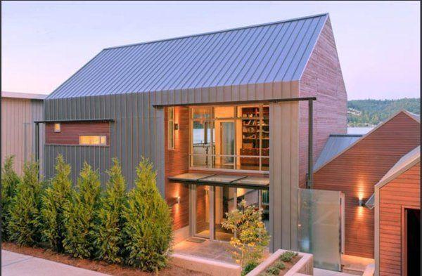 Beautiful Residence On Lake Washington By Johnston Architects Freshome Com Modern Farmhouse Plans Modern Lake House Modern Barn House