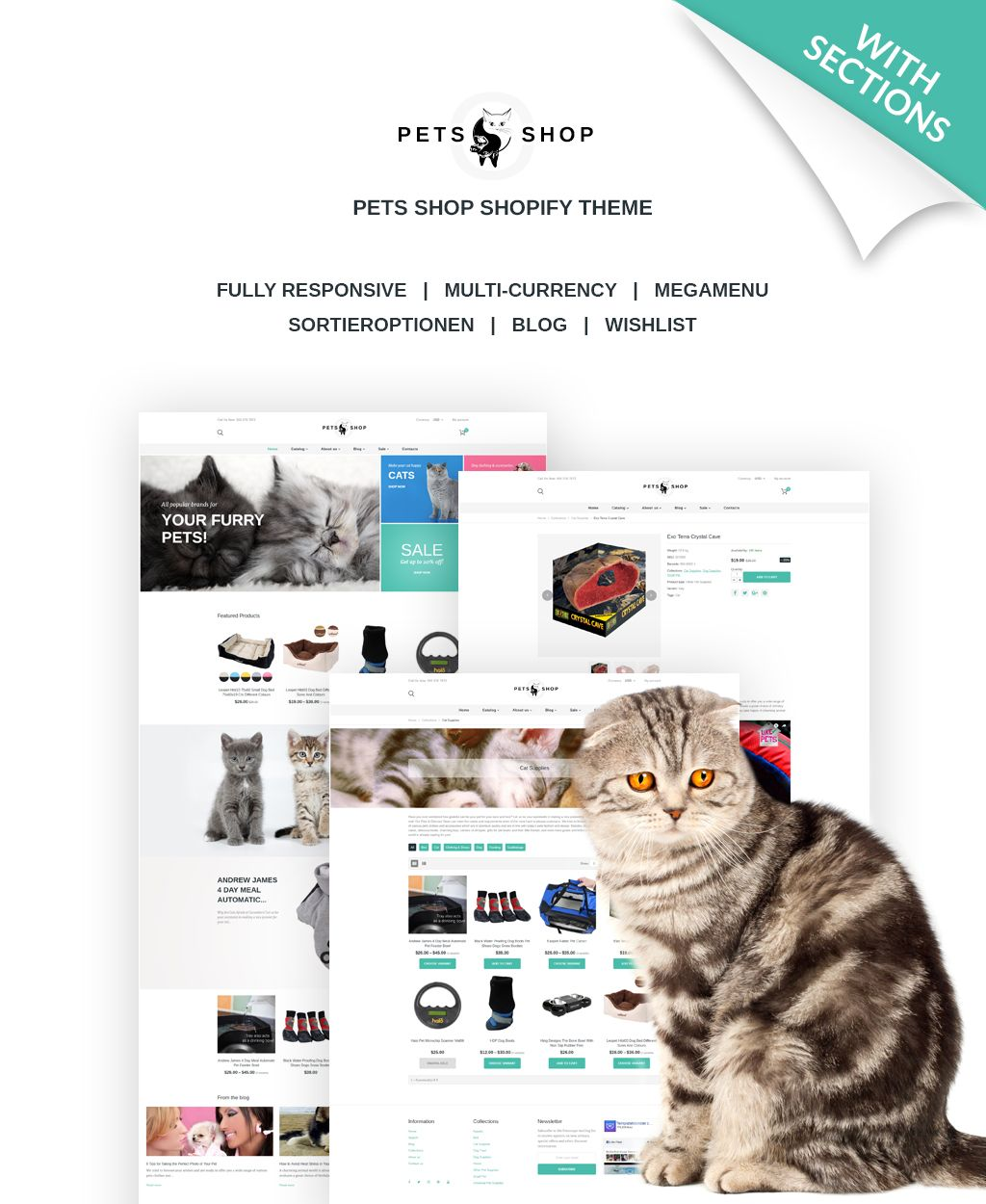 Animally Pets Responsive Shopify Theme | Ecommerce Templates ...