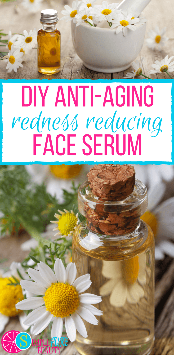 Check out this simple, 4-ingredient DIY redness-reducing anti-aging face serum. Whether your skin is mature or suffering from Rosacea, you'll enjoy the benefits of these oils. #antiaging #skincare #essentialoils #serum #homemade #calming #Hautpflege anti aging DIY Redness Reducing Anti-Aging Face Serum with Only 4 Ingredients! #faceserum