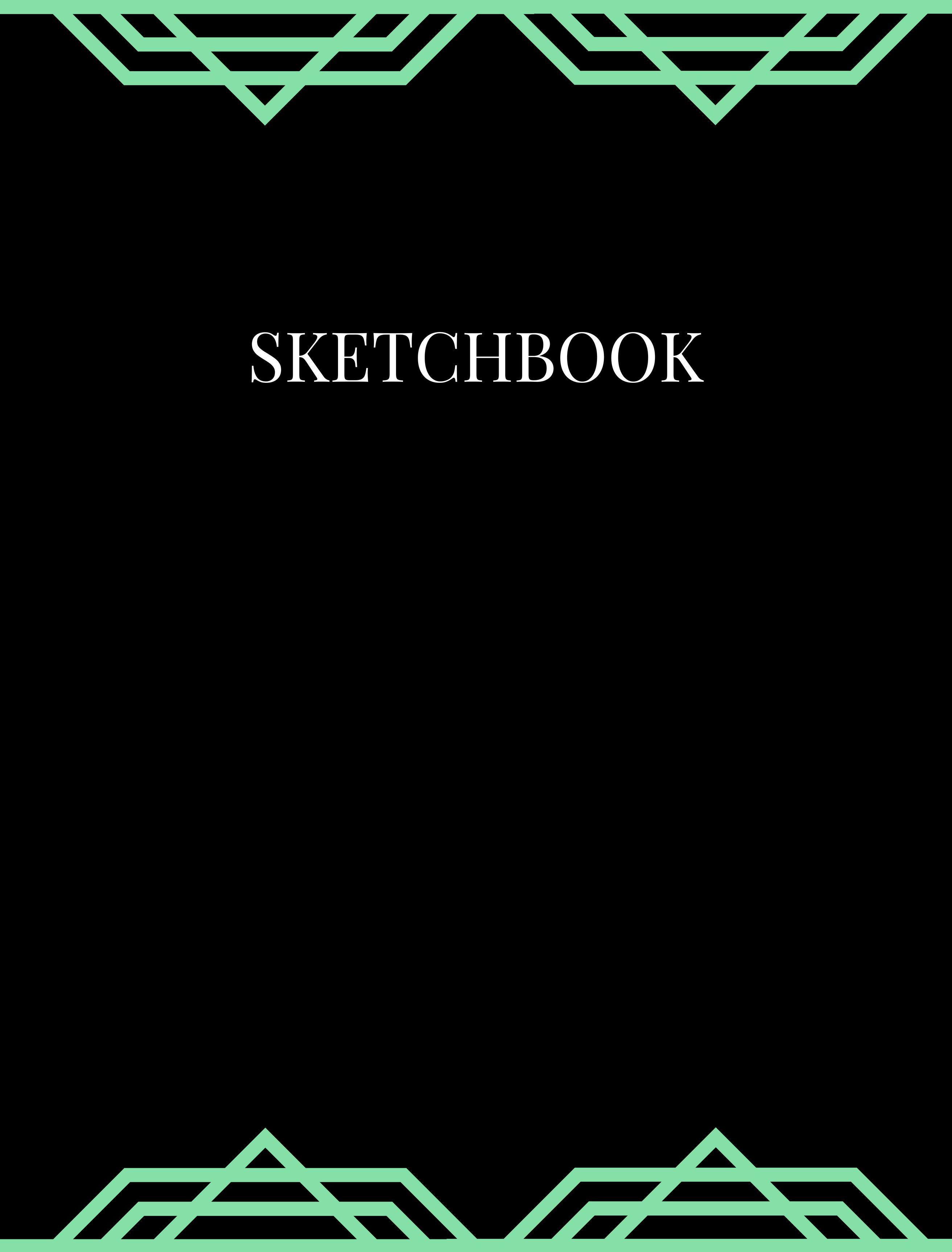 Matte black sketchbook graph paper for designing