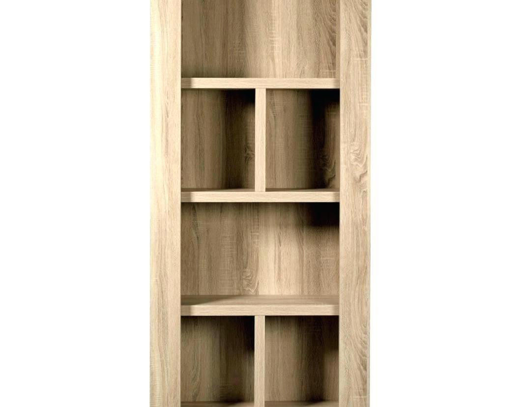 Solid Oak Bookcase 7ft Tall Narrow Slim Jim Adjustable Display