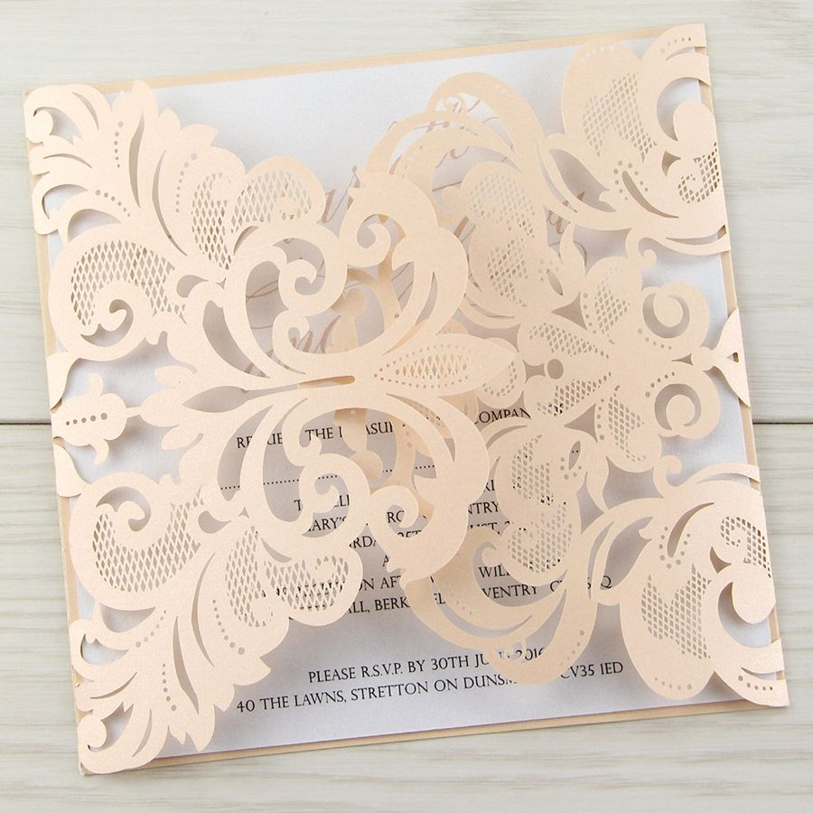 1449677946 Iris Blush Pink New Las Laser Cut Wedding Invitationsscript
