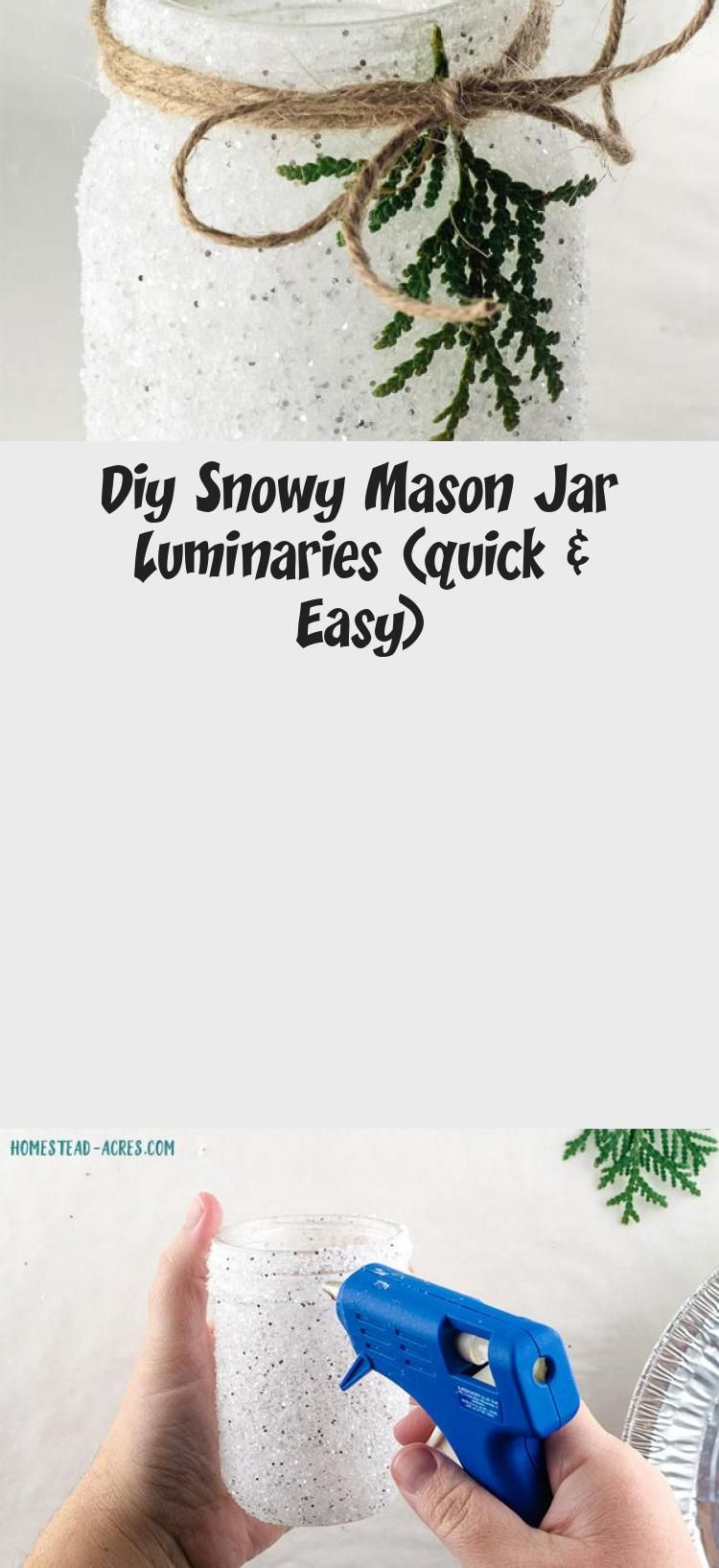 Diy Snowy Mason Jar Luminaries (quick & Easy) | Mason jar ...