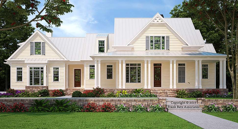 Southern Style House Plan 83038 With 4 Bed 4 Bath 3 Car Garage