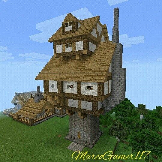 casa en forma de torre minecraft house shaped