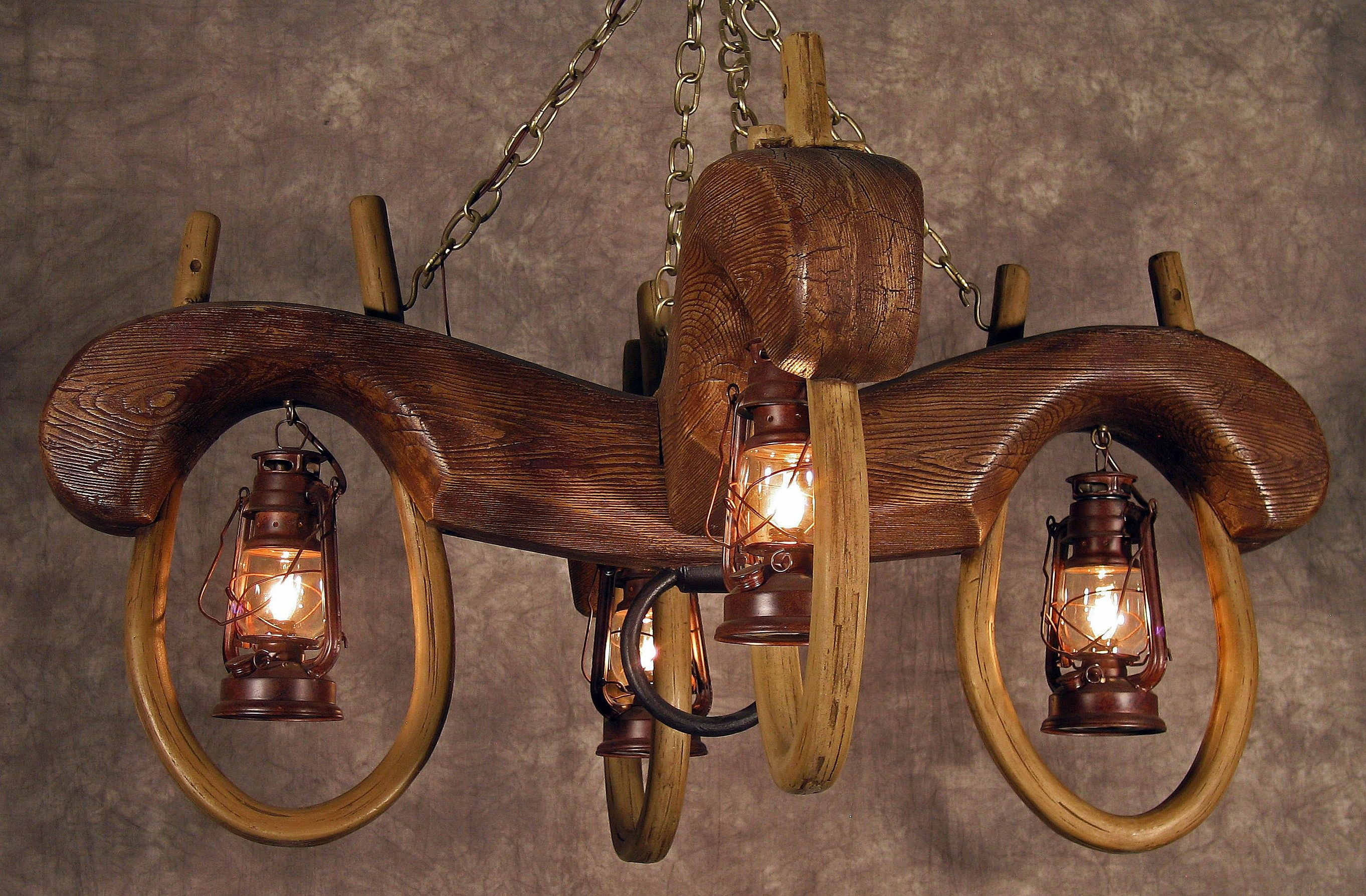 Remarkable western ceiling light fixtures contemporary best double ox yoke 4 lantern chandelier rustic ox yoke chandeliers western arubaitofo Image collections