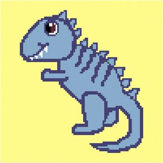 The Friendly Dino (Cute Dinosaur) pattern by Angela Davis #crochetdinosaurpatterns