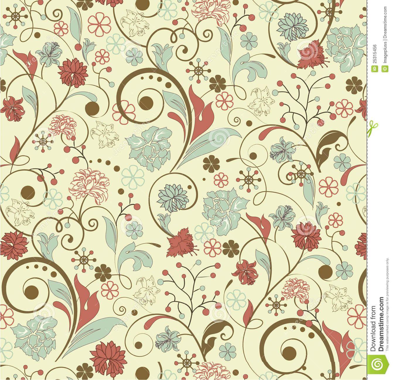 Vintage Background Patterns Flower Backgrounds