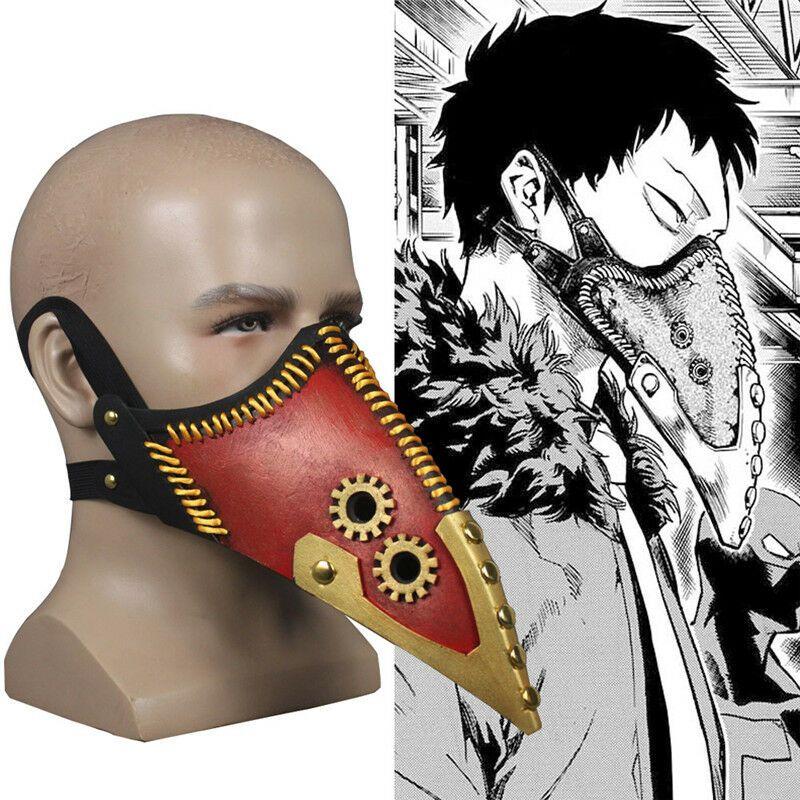 My Boku no Hero Academia Midoriya Izuku Face Mask Cosplay Costume Anime Props