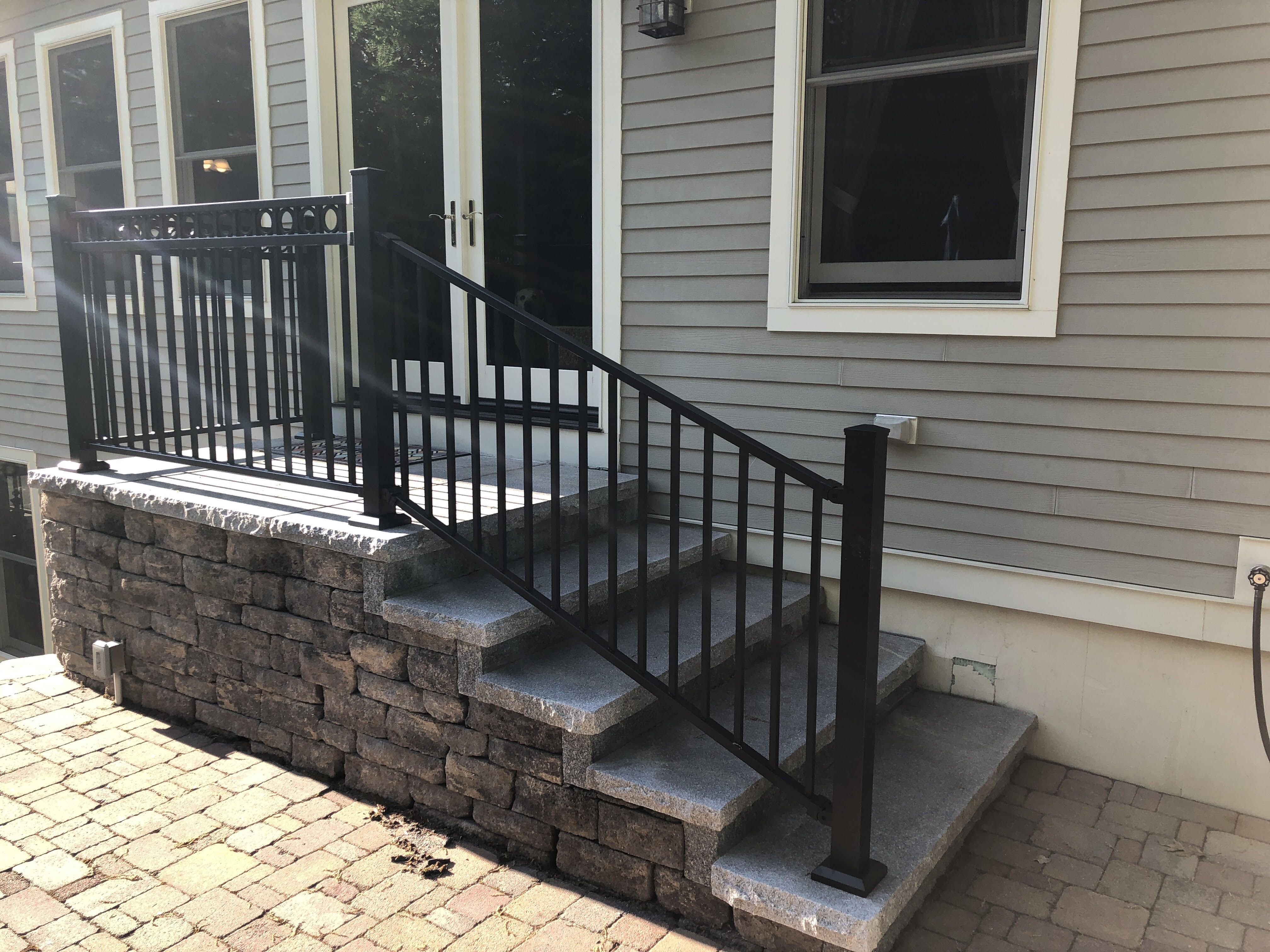 Fortress Al13 Pro Panel Railing System Outdoor Stair Railing | Outdoor Railings For Steps | Exterior | Outside | Residential | Staircase | Interior