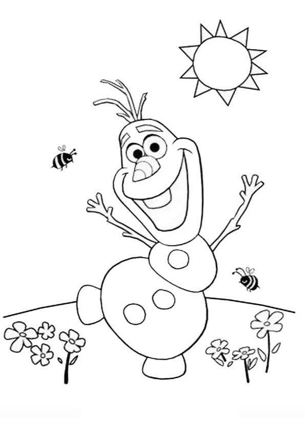 frozen olaf printable coloring pages | Coloring Olaf | Adult Coloring Pages | Summer coloring ...