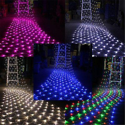 100-300 LED Solar Powered String White Blue Fairy Lights Xmas Party Wedding Lamp