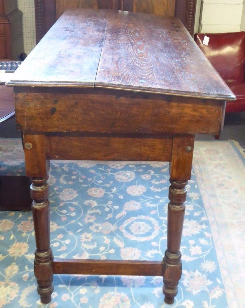 Antique Oak R/R or Port Stand-Up Desk.3 Drawers.2 pieces.Slant Front. 72