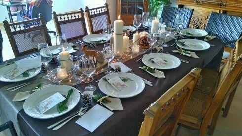 Ma table, theme: la forêt