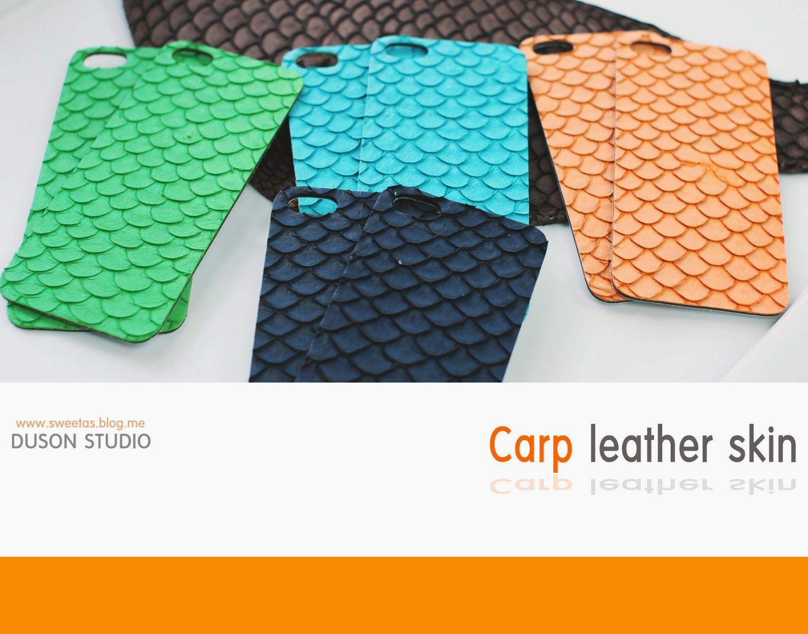 handmade factory DUSON: I phone 5/5s carp leather skin cover
