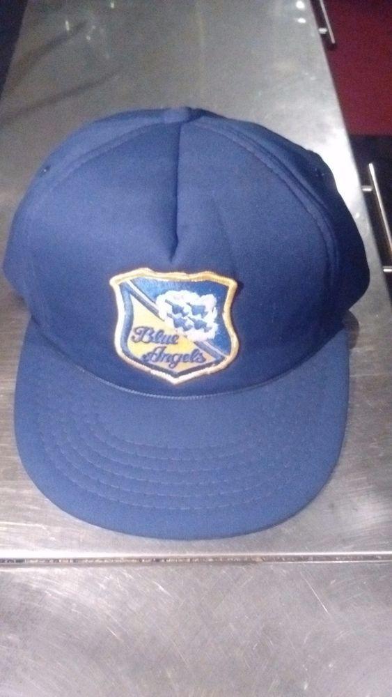 b91d641f9ac Blue Angels Hat Adjustable Cap Vintage Snapback Trucker Hat  DesignerAward   BaseballCap Snapback