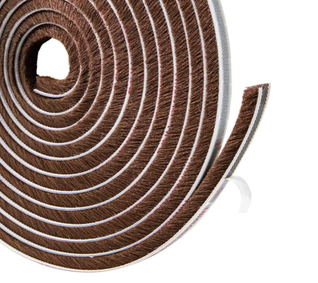 Felt Pile Weather Stripping Brush Strip For Window And Door Seal 11 32 Inch X 11 32 Inch X 16 Ft In 2020 Weather Stripping Door Seals Strong Adhesive