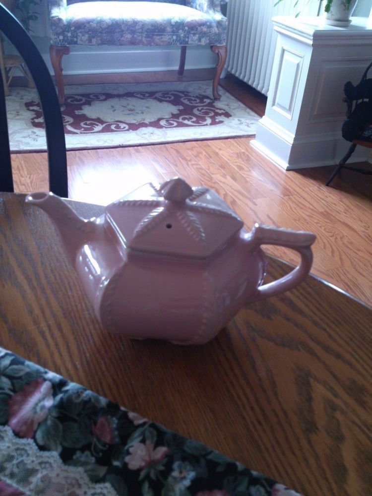 Hall Pink Plume Teapot 1947 VINTAGE MINT #Hall