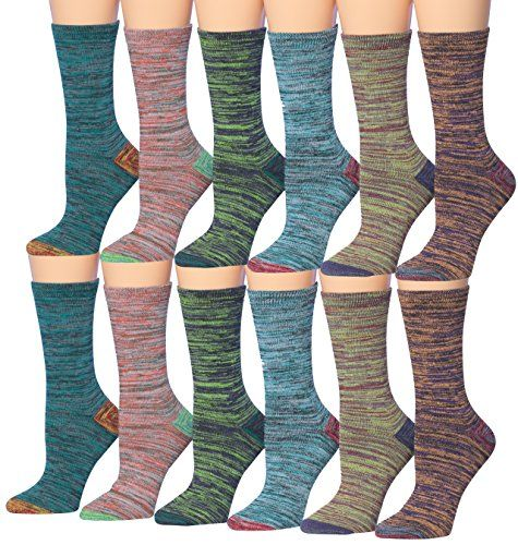 Tipi Toe Women's 12-Pairs Space Dye Colorful Crew Socks, ... https://www.amazon.com/dp/B01M04NJS2/ref=cm_sw_r_pi_dp_x_97rmyb31S26AS