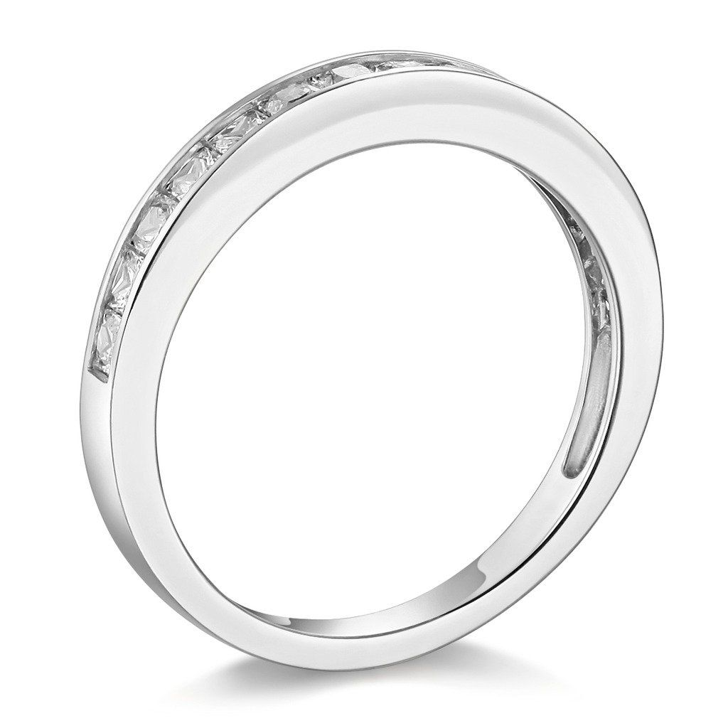 Rhodium Plated Silver Classic 2.46ct Clear Stones Fashion Ring