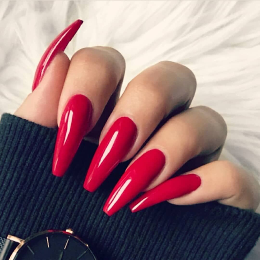 Red Manicure With Design For Short Nails Page 15 Of 36 Mycolorednails Com Red Acrylic Nails Luxury Nails Coffin Nails Designs