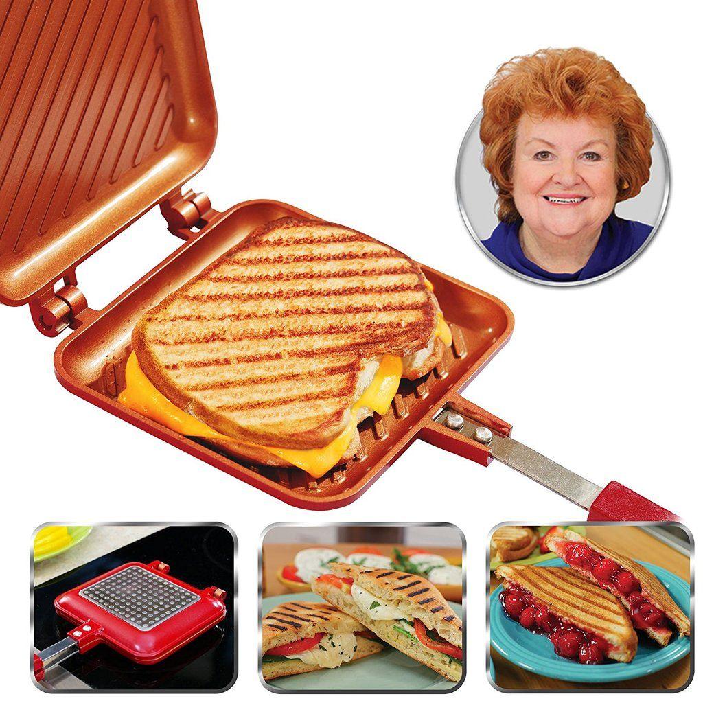 Red Copper Flipwich Sandwich Maker Grilled Sandwich