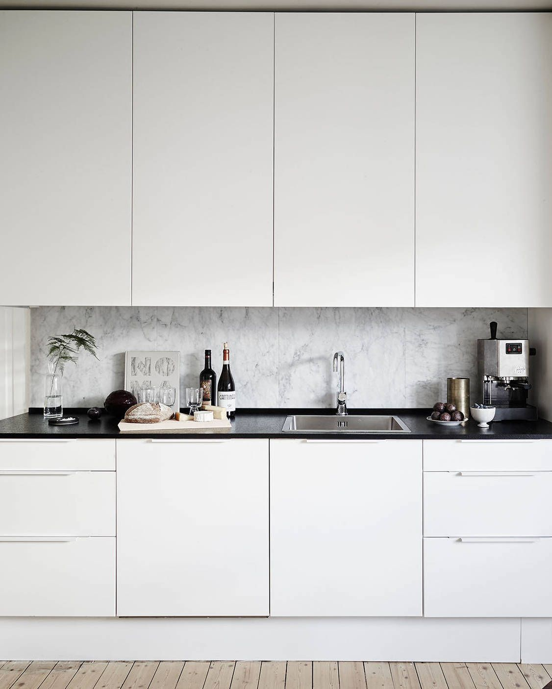 Mad About ... Scandinavian Style Kitchens | Black counters, Counter ...