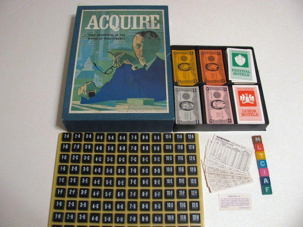 Acquire Board Game 3m Bookshelf Vintage 1968 Finance