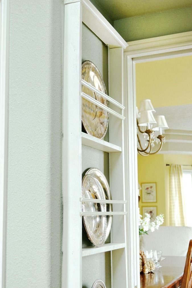 Selbstbauanleitung für Teller- und / oder Topfdeckelhalter --- DIY hanging wall plate rack & DIY Wall Plate Rack | Plate racks Diy wall and Ana white