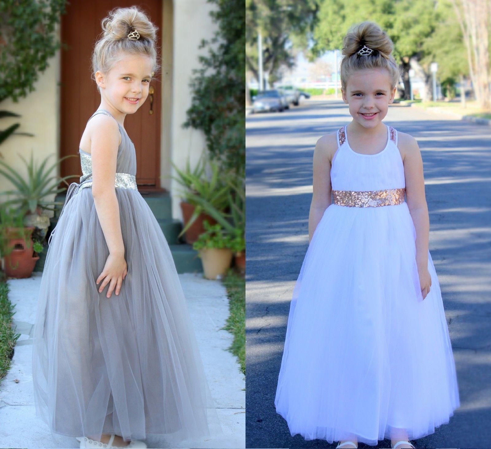 Flower Girl Princess Dress Party Dance Wedding Birthday Prom Graduation Recital