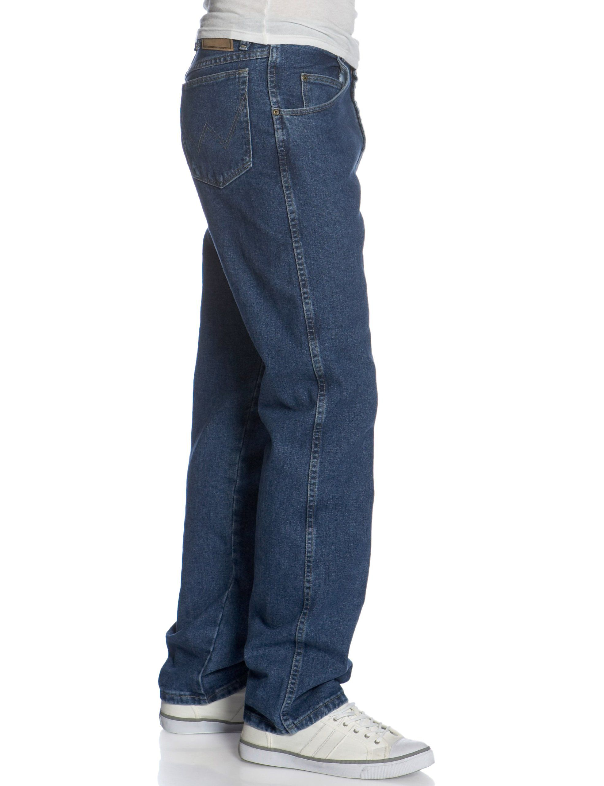 8141d60f Wrangler Men's Big and Tall Rugged Wear Relaxed Fit Jean ,Antique Indigo ,44x32