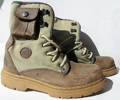 Vintage TRAVEL FOX Women's Combat Boots Hunting Fishing