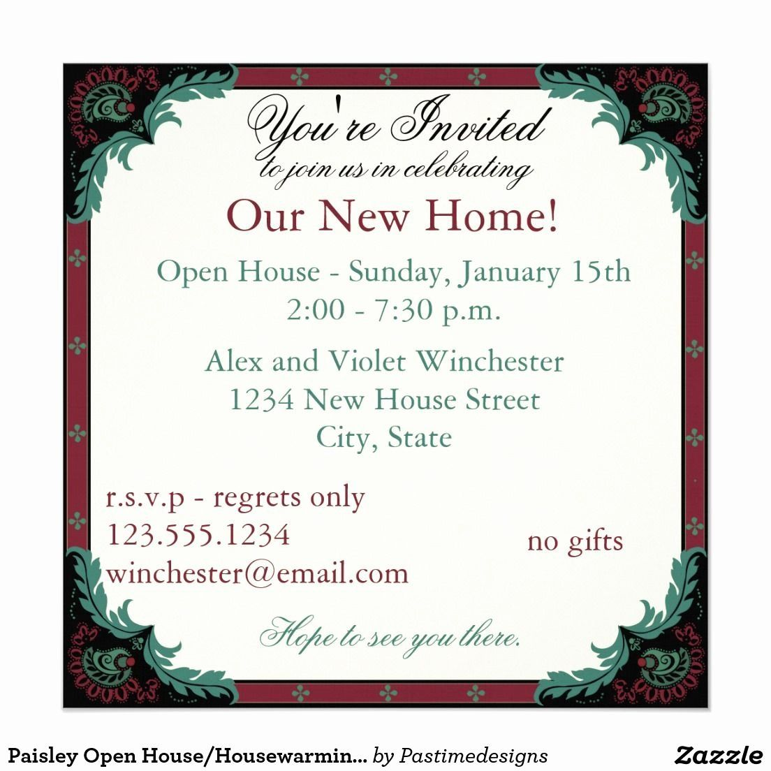 Office Open House Invitation Wording Lovely Paisley Open House