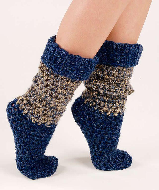 dcf8788cf9d7d DIY Crochet Socks Help You Fight The Winter Cold   crochet   Crochet ...