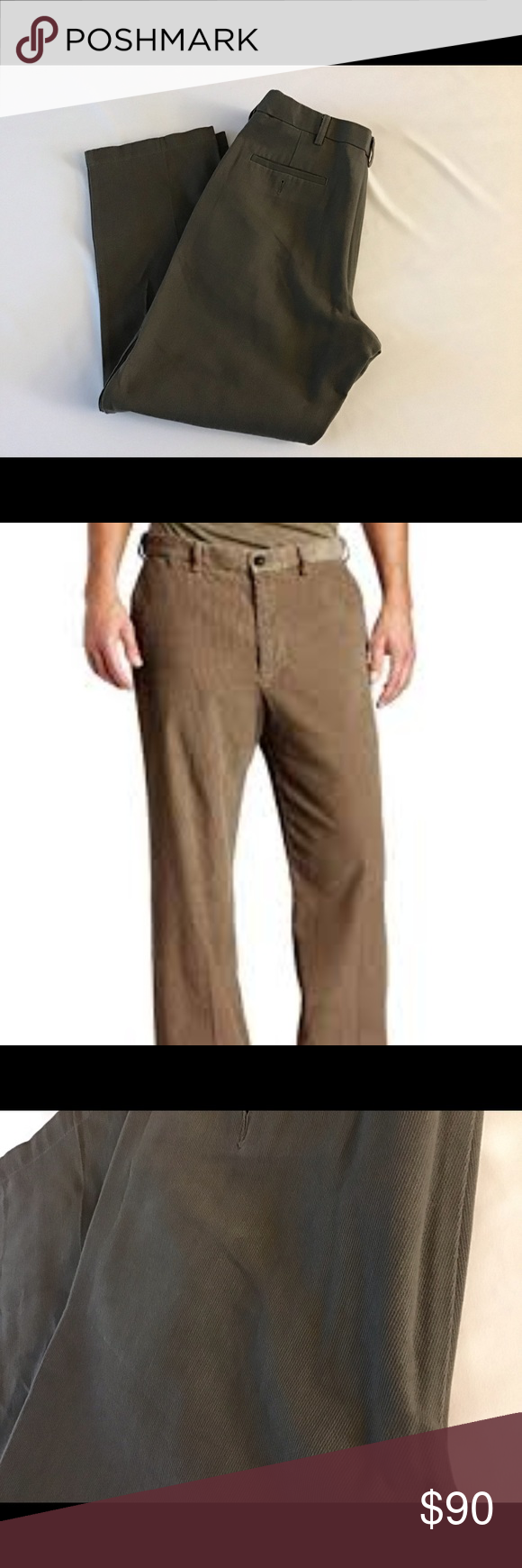 Haggar Mens Heathered Corduroy Hidden Expandable Waist Classic Fit Front Pant