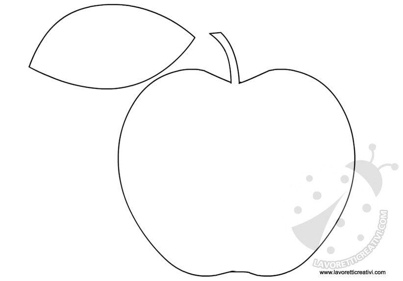 sagome frutta da ritagliare ricamo disegni da colorare