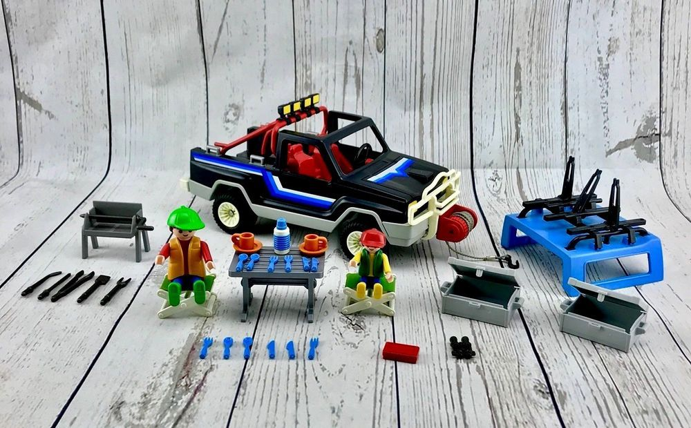 VINTAGE PLAYMOBIL 4 X 4 JEEP ADVENTURE CAMPING SET 3764