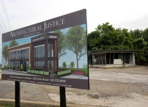 Groundbreaking Begins On New Strongsville Site Architectural Justice Architecture Old Building Coming Soon Sign