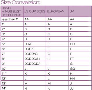 How to measure your correct bra size also the best sizing images on pinterest hacks rh