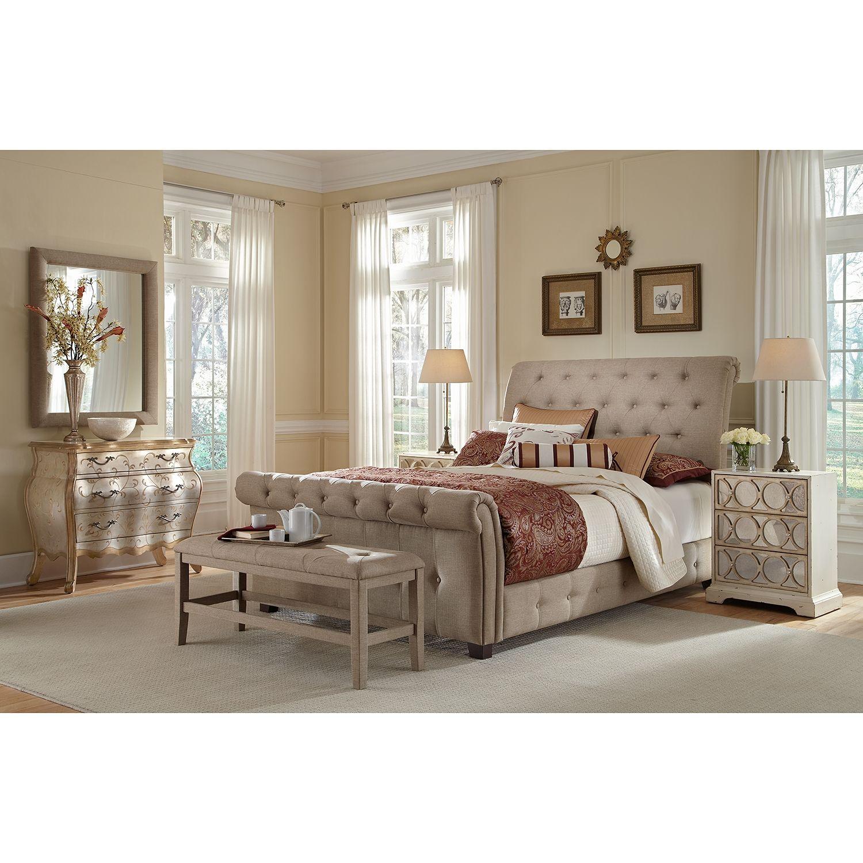 American Signature Furniture Maison Sand Bedroom King