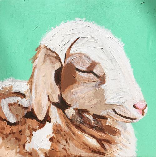 Lamb Commission #sallybuntingart